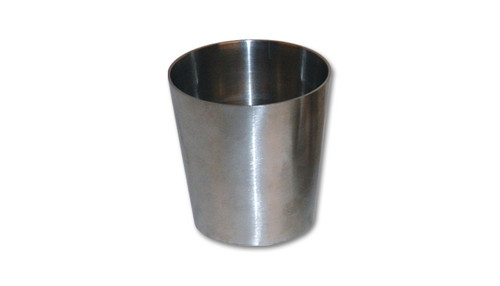 "2.5"" x 3"" Concentric (straight) Reducer - 304 Stainless Steel  Inlet O.D. - 2.50"" Outlet O.D. - 3.00"" Height: 2.00"" Thickness: 16 gauge (0.065"")  These Reducers are ideal for custom exhaust fabrication, especially where space is limited."