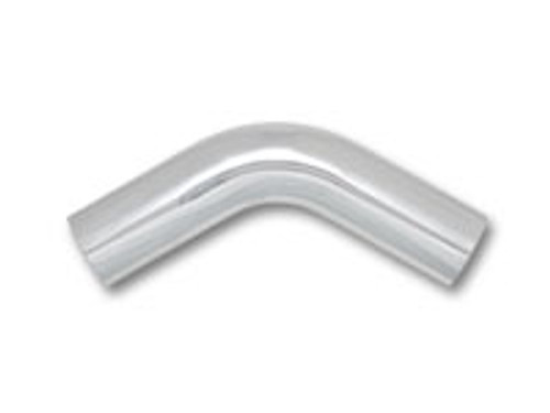 "3"" O.D. Aluminum 60 Degree Bend - Polished 6061 Aluminum Tube OD: 3"" CLR: 4.5"" Leg Length: 6"""