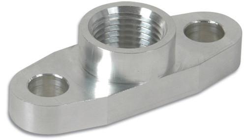 """Vibrant Performance Aluminum Oil Flange for Garrett GT37-GT55R (Tapped - 1/2"""" NPT)"""