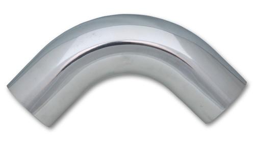 "3.5"" O.D. Aluminum 90 Degree Bend - Polished 6061 Aluminum Tube OD: 3.5"" CLR: 4.5"" Leg Length: 2.5"""