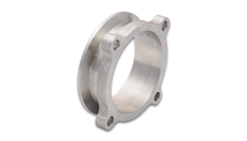 "Vibrant Performance Turbo Outlet Flange GT30/35 4 Bolt Flange, 3"" Round to 3"" V-Band Transition T304 Stainless Steel"