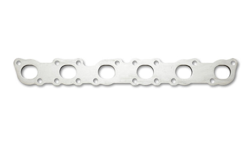 """Exhaust Manifold Flange for Nissan RB25/RB26 Motors - 1/2"""" Thick Mild Steel  - 1/2"""" thick - Port sizing is optimized for use with Schedule 10 or Schedule 40 pipe"""