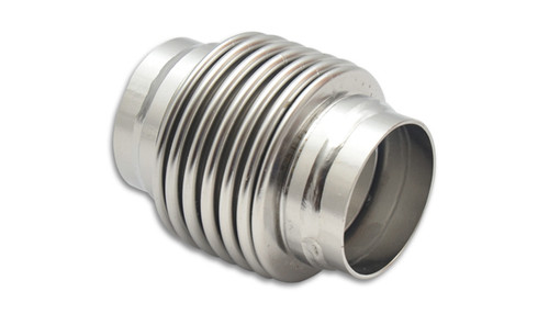 """Bellows Assembly with Solid Liner, 1.50"""" I.D. x 2.75"""" Overall Length - Electropolished  Material: 321 S.S. Bellows; 304 S.S. Weld Necks  - Ideal for use on Wastegate Dump Pipes - Features a directional, smooth flow solid liner - Designed to reduce premature cracking of manifolds and downpipes  S/S by 69327"""