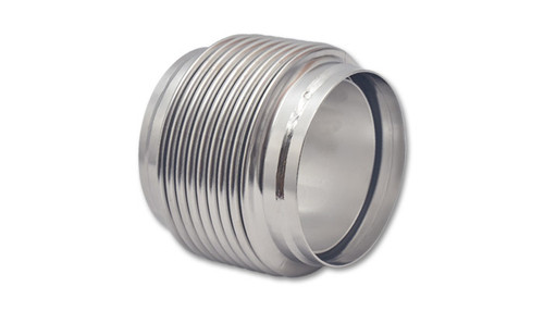 """Bellows Assembly with Solid Liner, 4.00"""" I.D. x 4"""" Overall Length - Electropolished  304 Stainless Steel  - Ideal for use on Wastegate Dump Pipes - Features a directional, smooth flow solid liner - Designed to reduce premature cracking of manifolds and downpipes"""