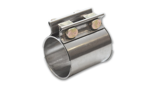 """TC Series High Exhaust Sleeve Clamp for 2.75"""" O.D. Tubing T409 Stainless Steel Genuine Torca TC Series Exhaust Couplers Allow for very secure sealing of butt-joint connections."""