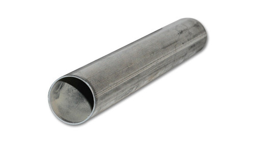 """Vibrant Performance 2.375"""" O.D. T304 Stainless Steel Straight Tubing - 5 foot length"""