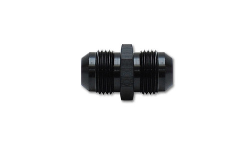 Vibrant Performance Union Adapter Fitting; Size -8 AN x -8 AN - Anodized Black Only