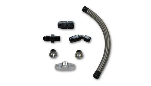"""Vibrant Performance Universal Oil Drain Kit for Garrett T3/T4 Turbos (12"""" long line)"""