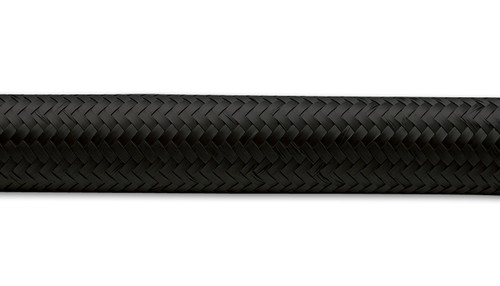 """Vibrant Performance 20ft Roll of Black Nylon Braided Flex Hose; AN Size: -8; Hose ID: 0.44"""" Synthetic Rubber/Nylon  - E85 Friendly - Black Braided Nylon Cover - Lightweight and Durable - Suitable for use with Oil, Water, Fuel and Coolant - Capable of handling operating temperatures ranging from -40 deg F to 300 deg F and elevated operating pressure of 500psi."""