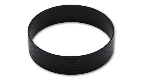 "Vibrant Performance Aluminum Union Sleeve for 5"" OD Tubing - Hard Anodized Black"