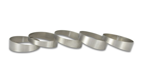 "3.5"" O.D. Titanium Pie Cuts, Bag of 5 Tube O.D. - 3.50"" CLR: 5.75"" Thickness: 0.039"" - 5 Pie Cuts at 9 deg. each = 45 deg. elbow."