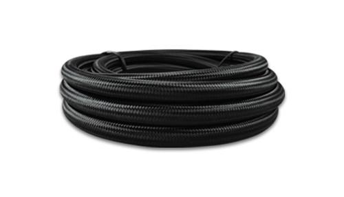 Vibrant Performance Black Nylon Braided Flex Hose with PTFE liner; -8AN (20FT long)