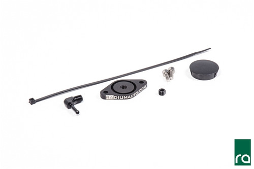 "Radium Sound Symposer Delete Kit, 2013+ Focus ST Included -Billet Aluminum Block-Off Plate -Billet Aluminum 1/8"" NPT Elbow Fitting -Billet Aluminum 1/8"" NPT Plug -Plastic Panel Locking Plug -Stainless Steel Hardware -Cable Zip Tie"