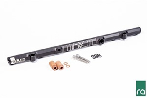 Fuel Rail, Nissan RB26DETT 20-0217 FUEL RAIL FOR RB26DETT, INCLUDES:  -Black Anodized Aluminum Fuel Rail -Insulating Phenolic Spacers (x2) -Insulating Phenolic Washers (x2) -Stainless Steel Mounting Bolts (x2) -Viton O-rings for OEM Injectors (x6) NOTE: This fuel rail kit does NOT come standard with fittings.