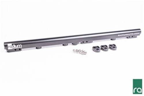 Radium Fuel Rail, Toyota 1JZ-GTE (VVT-i) INCLUDED: 20-0268 Toyota 1JZ-GTE Fuel Rail:  -Black Anodized Laser Etched Aluminum Fuel Rail -Black Anodized Aluminum Mounting Feet (x3) -Stainless Steel Mounting Feet Bolts (x6)