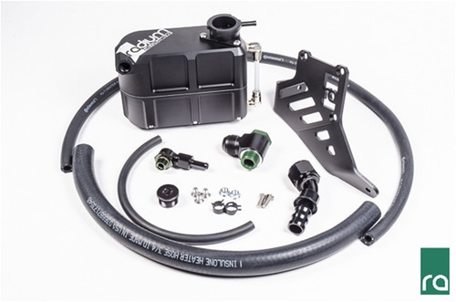 "Radium Coolant Tank Kit, 2013+ Focus EcoBoost Included -Billet Aluminum Coolant Tank -Aluminum Mounting Bracket  -Aluminum Adapter Fittings -Heater Hose, 5/16"" and 3/4"" -Overflow Hose, 7/32"" -Stainless Steel Hardware *PRESSURE CAP SOLD SEPARATELY*"