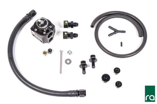 Radium Fuel Pressure Regulator, FPR Kit, 08-17 Subaru STi, Black This kit is designed for use in the USDM 2008-2019 Subaru WRX STi (EJ257 only) and replaces the OEM fuel pressure regulator and damper assembly, shown below. The factory STi fuel line routing uses a quasi dead-end system that circulates fuel through the regulator, bypassing the engine. Fuel is only routed to the engine when there is demand.