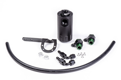Radium Catch Can Kit, PCV, Civic Type R Each kit features the following:  -Anodized oil catch can with integrated condenser and dipstick -Anodized aluminum Honda FK8 specific mounting bracket -Anodized aluminum -AN adapter fittings and hose ends -Enough PCV hose for custom applications   -Stainless steel mounting hardware
