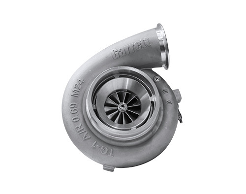 Garrett GTX4508R Super Core. Horsepower:750 - 1.250HP. Displacement:2.0 - 8.0LForged, fully-machined 11-blade compressor wheel. Dual ball bearing. Ported shroud compressor housing to increase surge resistance. Compressor side:TRIM 56 A/R 0.60. Turbine side:TRIM 85. Bearing housing:Oil & water cooled system