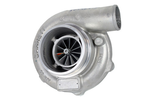 """Supercore GTX3576R - Forged, fully-machined 11-blade billet compressor wheel. Ceramic Dual Ball bearing. Ported shroud compressor housing to increase surge resistance. Compressor side: TRIM 58 A/R 0.60. Compressor Air Inlet: 4.00"""". Compressor Air Outlet: 2.00"""". Turbine side: TRIM 84. Sold without turbine housing"""