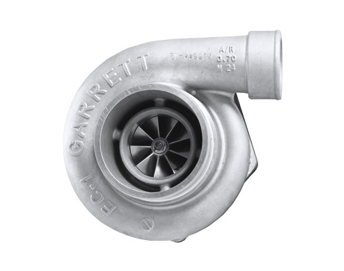 """Supercore GTW3684R - Forged, fully-machined 10-blade compressor wheel. Journal Bearing. Ported shroud compressor housing to increase surge resistance. """"W"""" denotes Wider flow range (better surge, better choke flow). TO4Z ball bearing center housing with journal bearings. TO4S compressor housing A/R 0.70. Compressor side TRIM 54. Turbine side TRIM 76. Sold without turbine housing. Turbine housing kits are available"""
