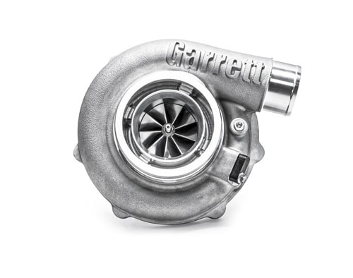 "Garrett G30-770 Turbocharger Assembly, Turbine Housing V-Band/V-Band A/R 0.83 Horsepower: 475 - 770HP Displacement: 2.0 - 3.5L  Garrett® G Series Compressor Aerodynamics for maximum HP. Fully machined Speed Sensor and pressure ports. New Turbine Wheel Aero constructed of MAR-M alloy rated 1055ºC. Stainless Steel wastegated and non wastegated turbine housing option capable of 1050°C. Oil restrictor and water fittings included.  Compressor side: TRIM 65 A/R 0.72  Compressor Air Inlet: Hose 4""   Compressor Air Outlet: Hose 2""  Turbine side: TRIM 84  A/R 0.83  Turbine Inlet: V-Band 3""   Turbine Outlet: V-Band 3.55"""