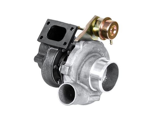 """Turbo GT2860RS - Dual ball bearing, oil & water-cooled CHRA; Internally wastegated turbine housing complete with actuator; Upgrade turbocharger for GT2554R (471171-5003S) and GT2560R (466541-5001S), turbine housing flanges are outline interchangeable; Turbine wheel is cast from """"Inconel"""" material for extreme applications; """"Disco Potato"""" refers to the Nissan Sentra (potato-shaped body) with psychadelic clor-change paint (disco) that was build. The name stuck. Compressor side: TRIM 62 A/R 0.60. Turbine side: TRIM 76 A/R 0.86 - T25/5-bolts - Wastegated. Low boost actuator (480009-0009)"""