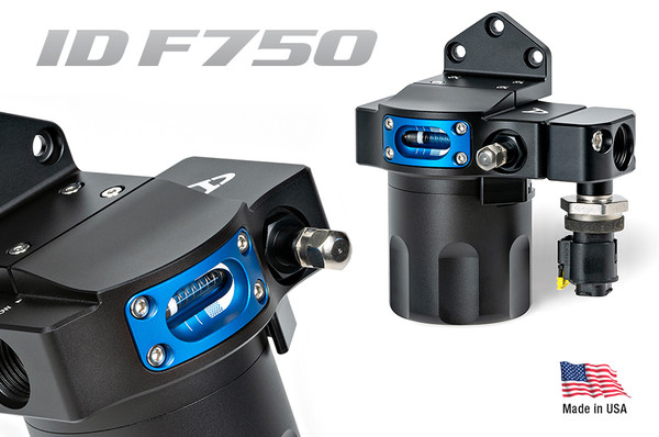 Injector Dynamics ID-F750B Fuel Filter Black Basic Specifications Nominal Flow Rate – 750 l/h @ 7.5 kPa (1.1 psi) pressure drop. 1000 l/h @ 13 kPa (1.9 psi) pressure drop Maximum Fuel Pressure – 10.0 Bar (145.0 psi) Fuel Compatibility – Compatible With All Known Fuels Fluid Connection – SAE -8 O-Ring Barb Weight – 700g