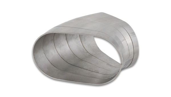 """Vibrant Performance Stainless Steel Tubing 45 Degree Horizontal Plane Oval Pie Cuts, Nominal Tube Size: 3"""""""