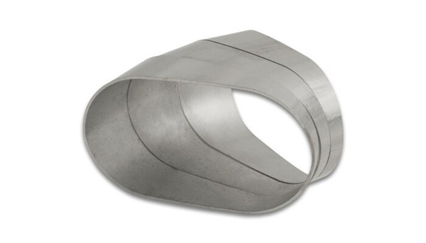 """Vibrant Performance Stainless Steel Tubing, 45 Degree Horizontal Plane Oval Pie Cuts, Nominal Tube Size: 3.5"""""""