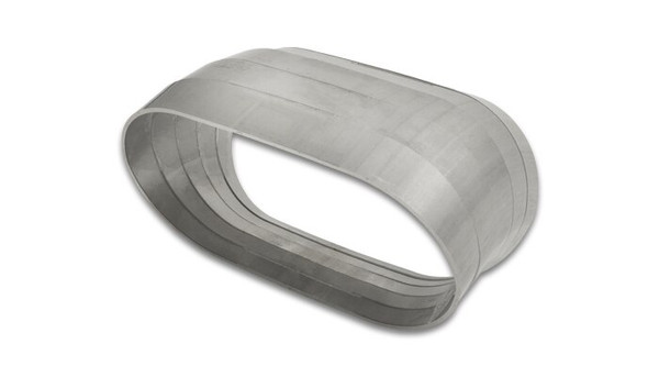 """Vibrant Performance Stainless Steel Tubing 45 Degree Vertical Plane Oval Pie Cuts, Nominal Tube Size: 3.5"""""""