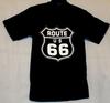 Black Route 66 Pocket T-shirt back