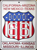 Patriotic Route 66 Sign