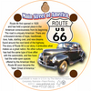 Back of U.S. 66 Historic Route 66 All American Road Cork Coaster (light version)
