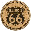 Illinois Route 66 Cork Coaster