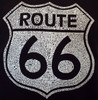 Close up of Route 66 Cities Shield Mens T-Shirt