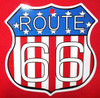 Small Metal Patriotic Route 66 Shield