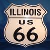 8 state Route 66 shield set: Illinois