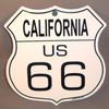 8 State Shield Set - California US 66