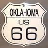 8 State Shield Set - Oklahoma US 66