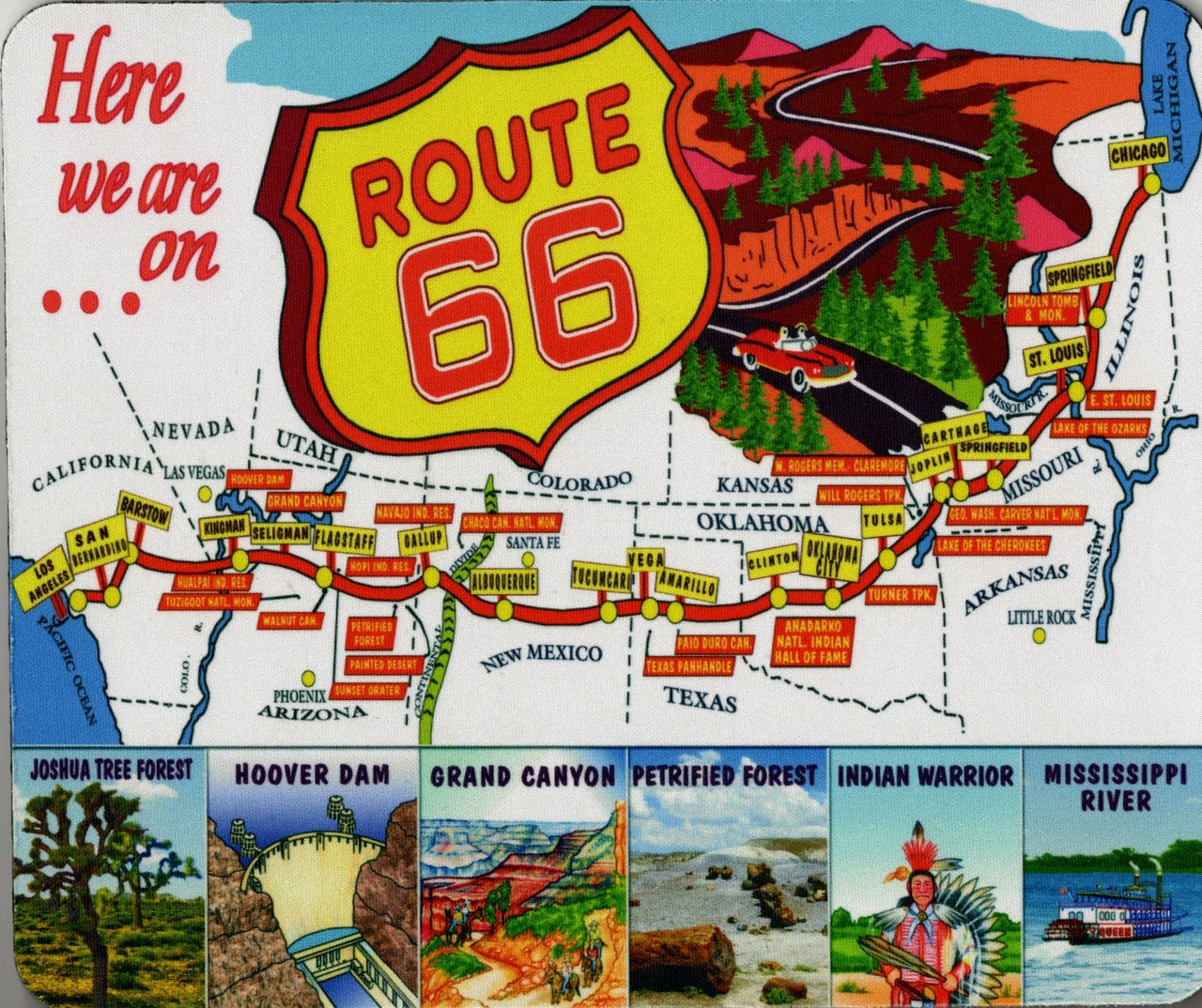 Vintage Route 66 Map Mousepad on us 52 map, us 70 map, us 27 map, us 75 map, us 90 map, us 54 map, us 58 map, us 62 map, us 74 map, us 45 map, us 65 map, us 50 map, us 25 map, us 83 map, us 95 map, oklahoma on us map,