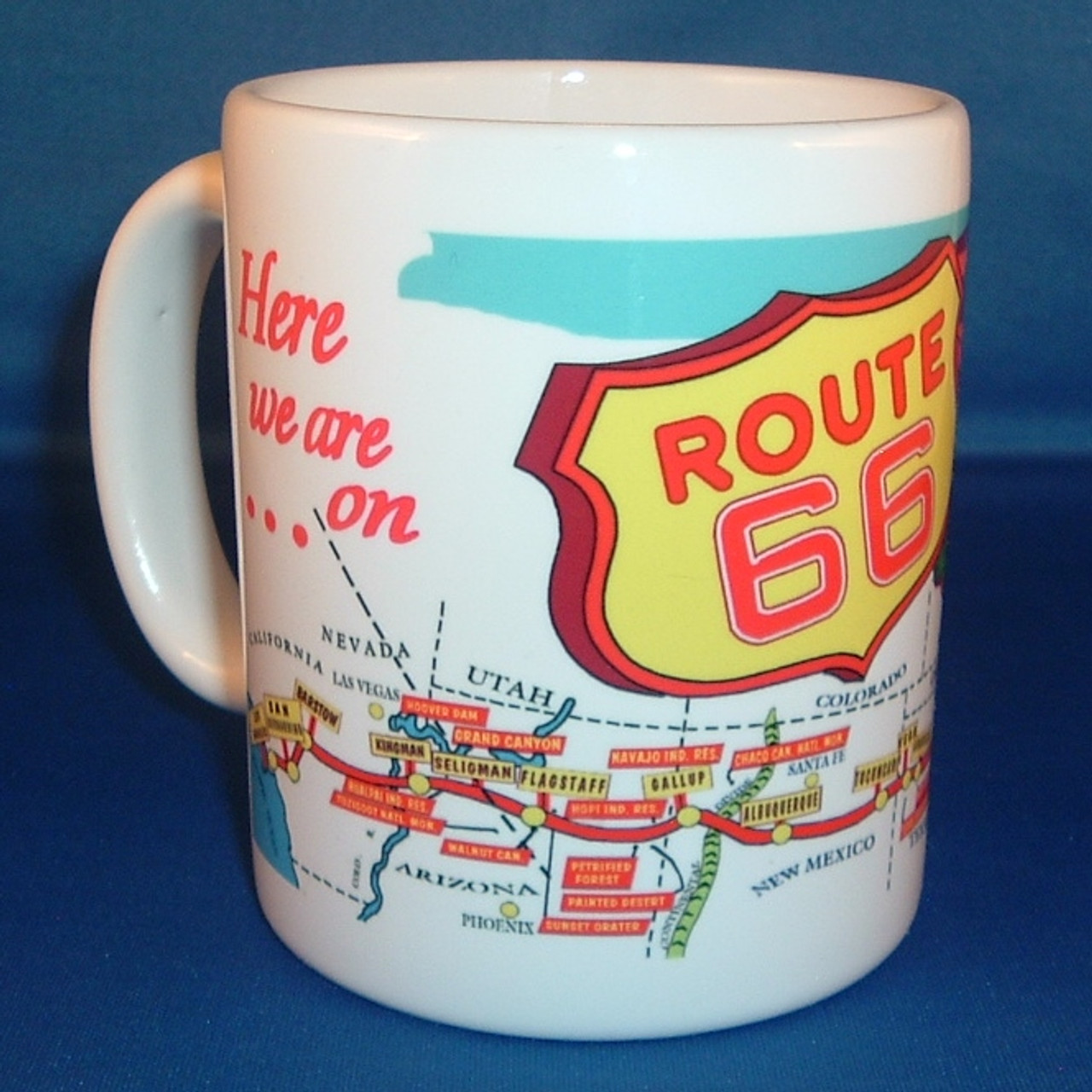 Route 66 Map Mug Route 66 Gift Shop