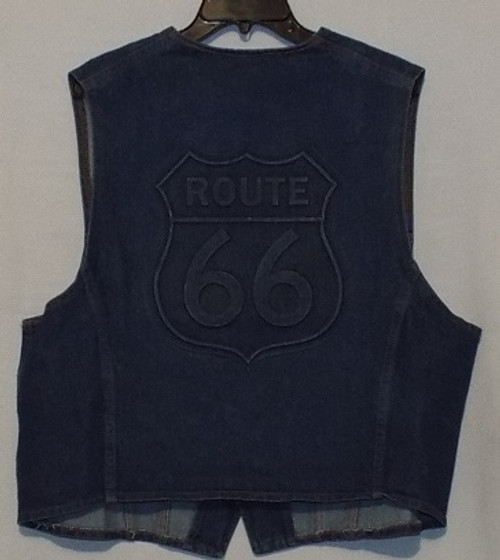 Route 66 Denim Vest (Made in USA)