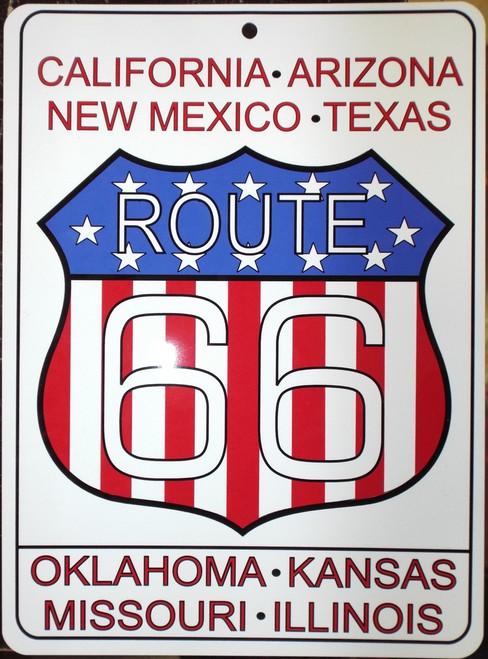 Patriotic Route 66 Sign