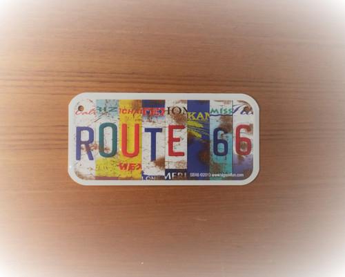 Mini 8 Route 66 States Collage License Plate