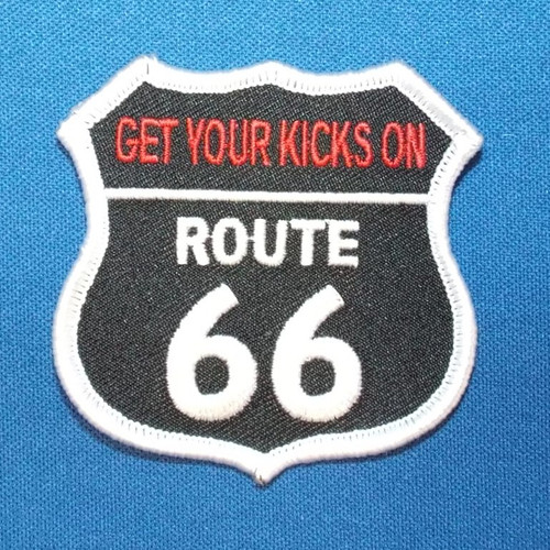Get Your Kicks on Route 66 Patch