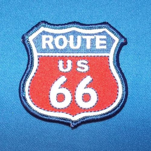 Red White and Blue Route 66 Patch