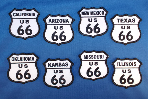 All 8 Route 66 States Patch Collection