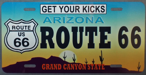 Arizona Route 66 License Plate