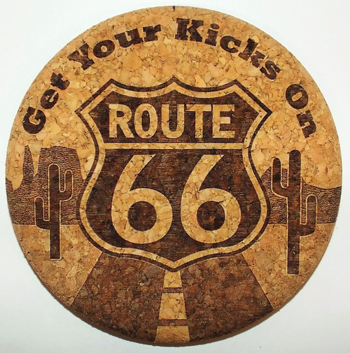 Cactus Get Your Kicks on Route 66 Coaster